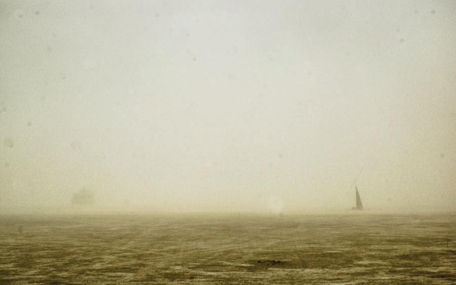 burning man playa during dust storm