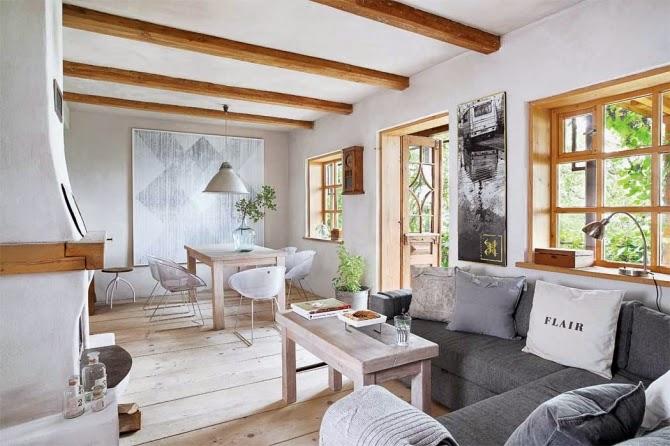 Interior madera y decoraci n natural en una vivienda que for Vivienda y decoracion
