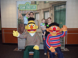Carlile family blog sesame street live this is it one lousy picture with bert and ernie definately not my idea of a meet and greet but it was free so who am i to complain m4hsunfo