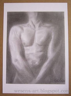 Akt: Man pencil drawing    wesens-art.blogspot.com