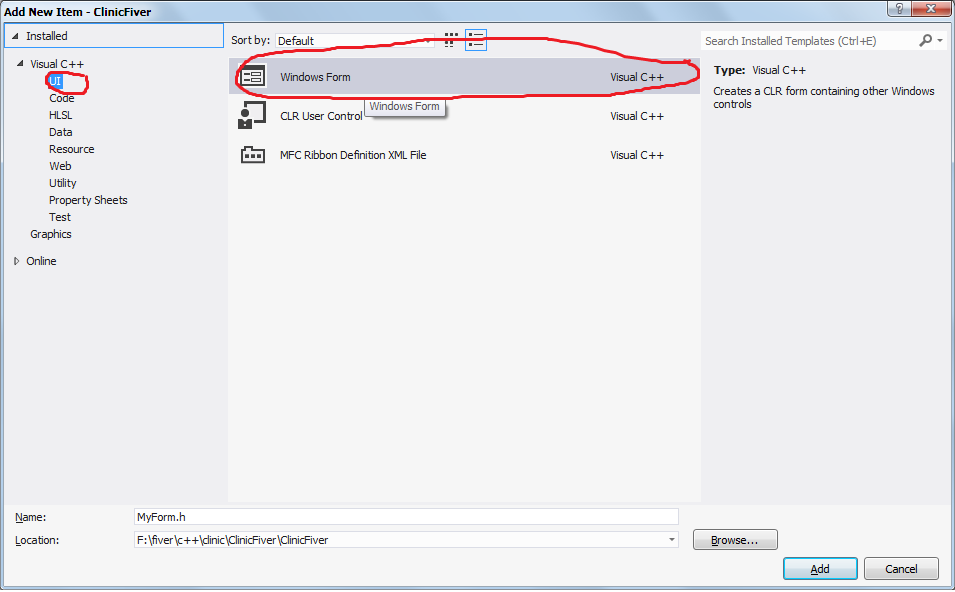 visual studio how to create c++ console application