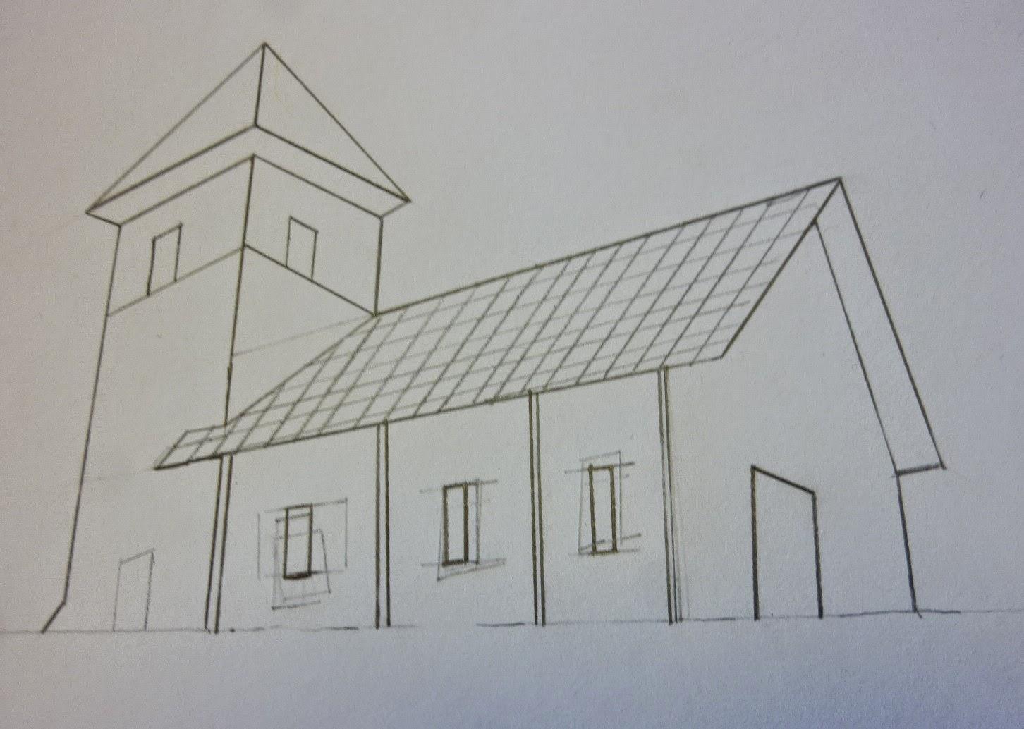 bienvenue chez les cm2 de l 39 cole nd 432 education artistique dessin b timent en. Black Bedroom Furniture Sets. Home Design Ideas