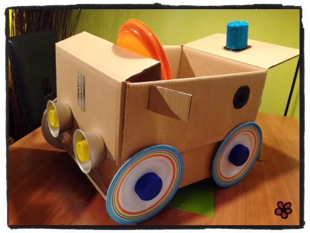 Como hacer un carro de carton grande paso a paso - Imagui
