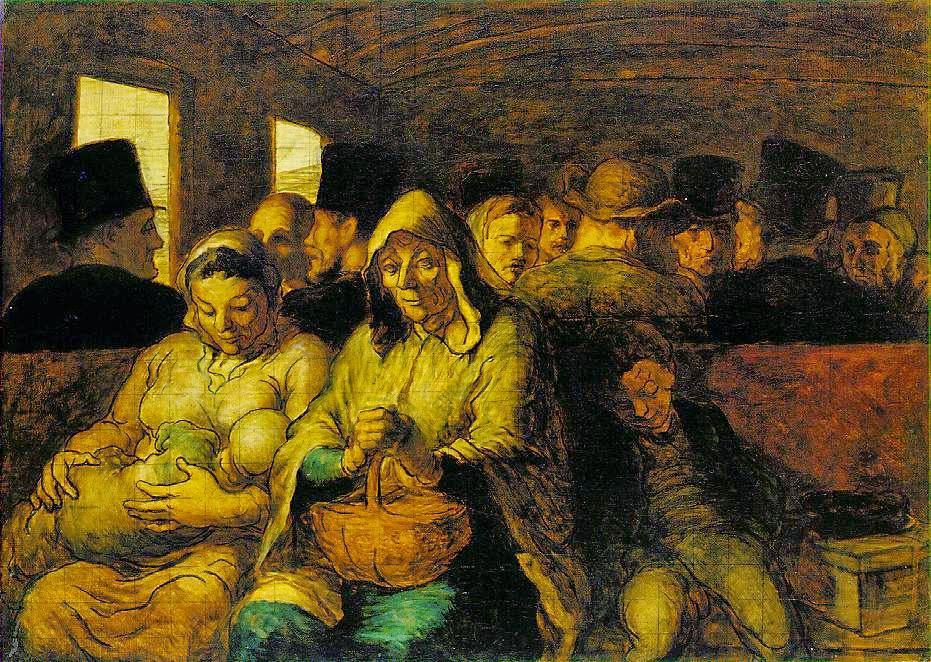 Honoré Daumier: The Third-Class Carriage