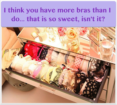 She is jealous of your lingerie drawer