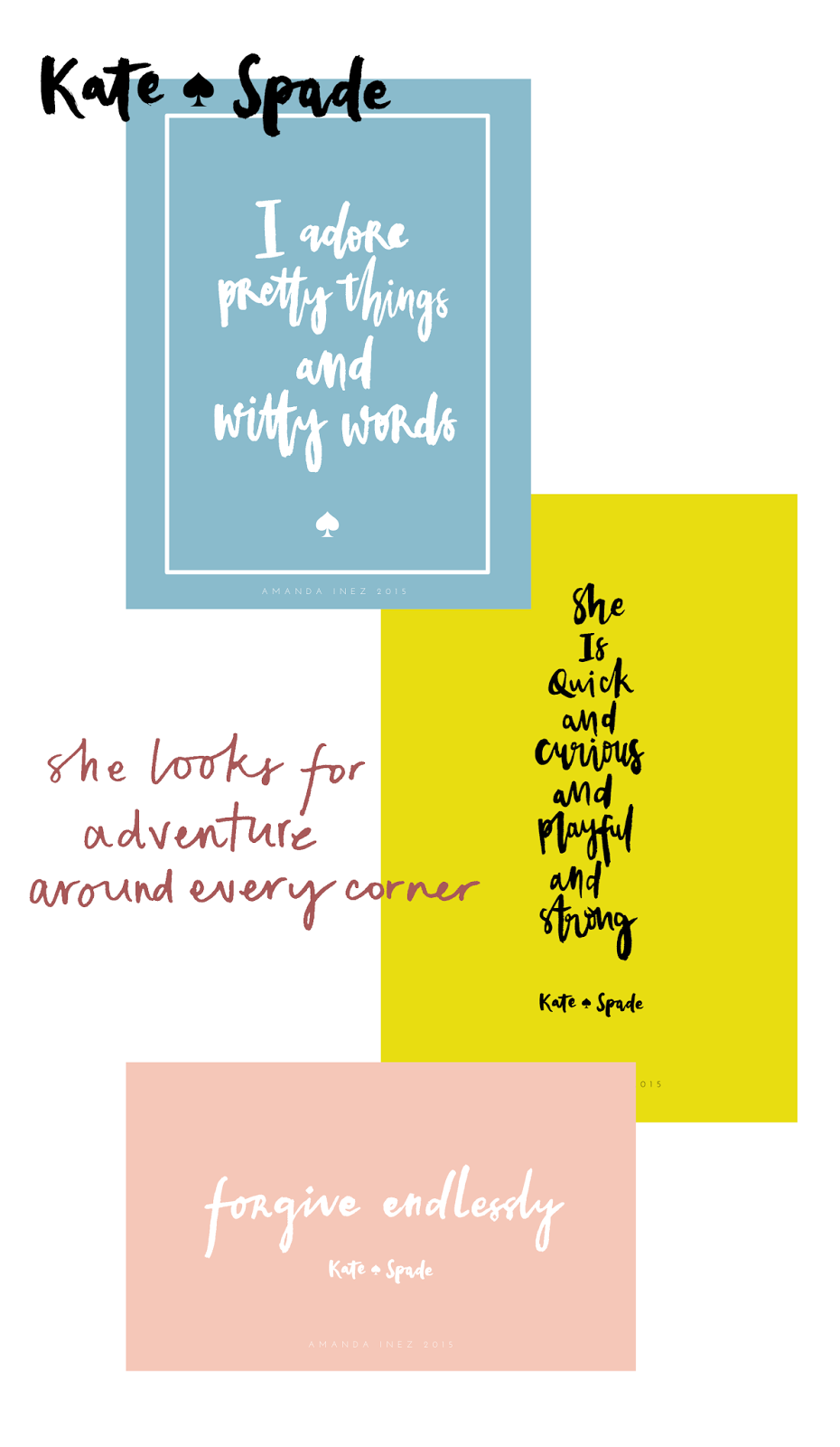 Kate Spade Quotes Captivating The Weekend Kate Spade  Amanda Inez