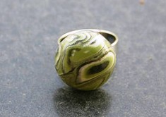Polymer clay retro cane ring