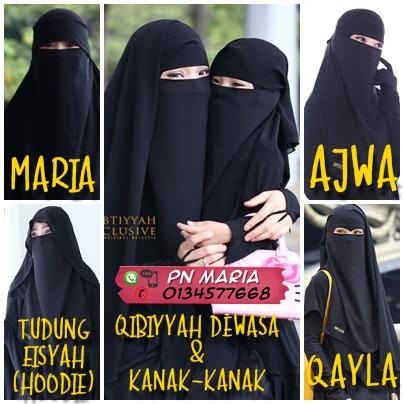 Niqab, Purdah,Tudung