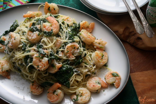 girlichef: Scampi Rockefeller {...more cooking with Absinthe}