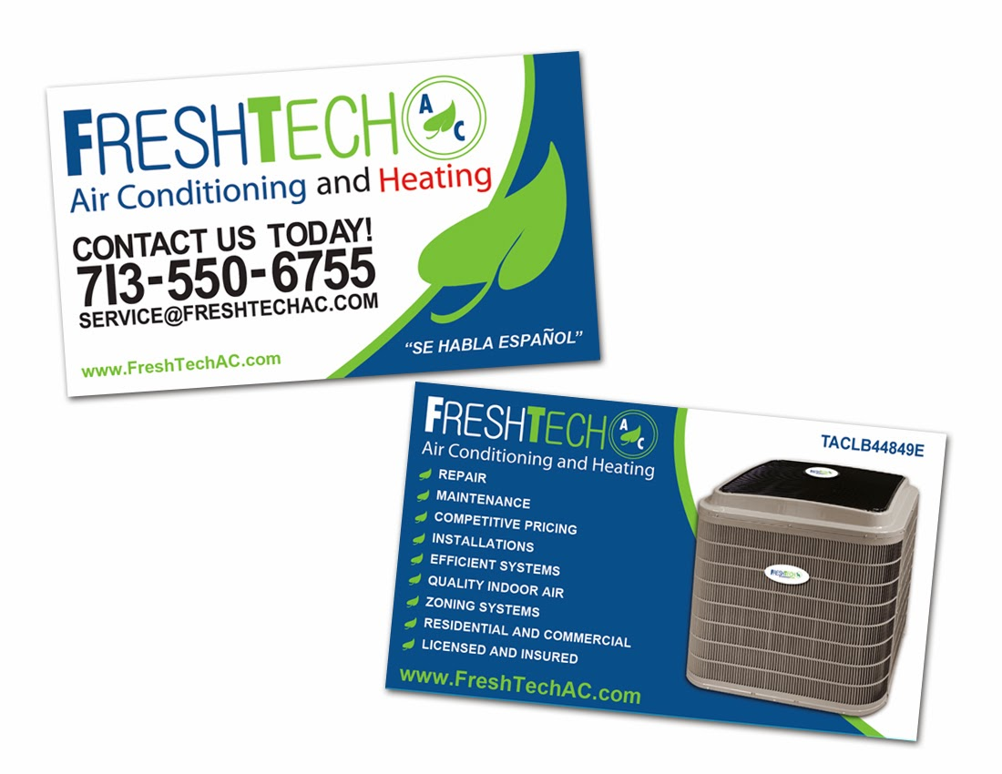 Freshtech ac blogupdates air conditioning and heating business air conditioning and heating business cards colourmoves