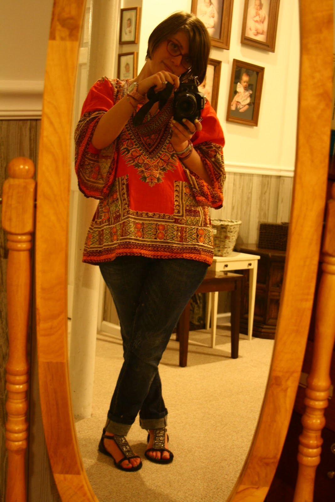 Behind the leopard glasses may 2011 what i wore black with metallic bead sandals easter gift from future mother in law seven jeans hautelook tribal shirt thrifted 2 negle Images