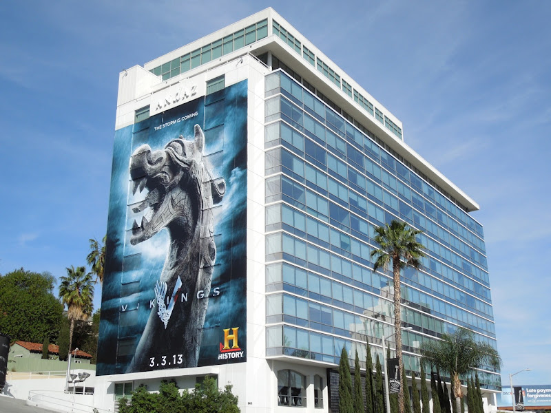 Giant Vikings billboard Sunset Strip