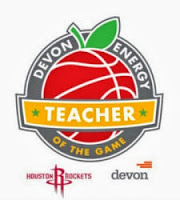 2012 Houston Rockets Teacher of the Game Award