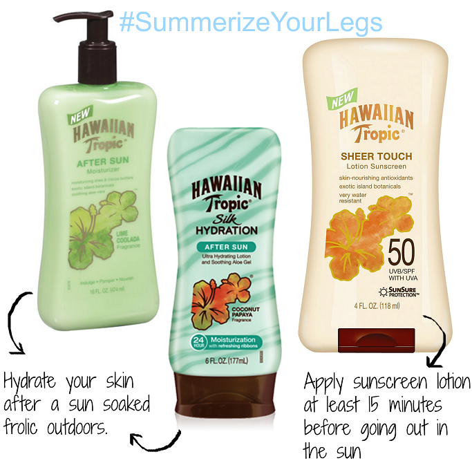#SummerizeYourLegs #CollectiveBias #Shop, Hawaiian Tropic After Sun Lotion