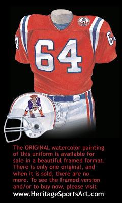 New England Patriots 1984 uniform