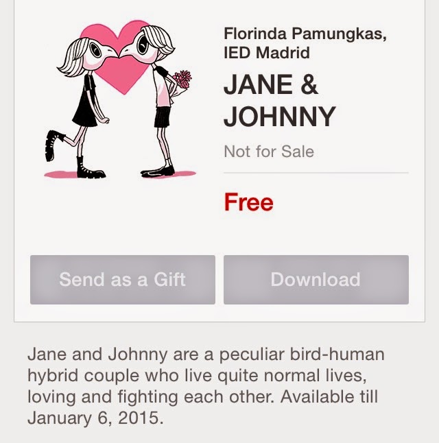 JANE & JOHNNY stickers