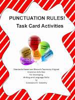 Grammar - PUNCTUATION RULES! Task Cards & Activities