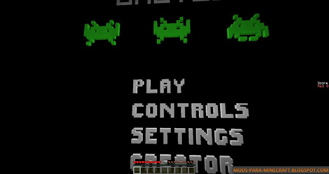 Space Invaders en Minecraft gracias al mapa MultiVaders 1.8