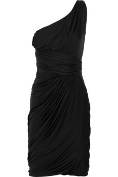 Draped one-shoulder jersey dress