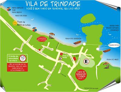 Mapa das ruas de Trindade - RJ