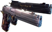 ebony and ivory pistol video game guns
