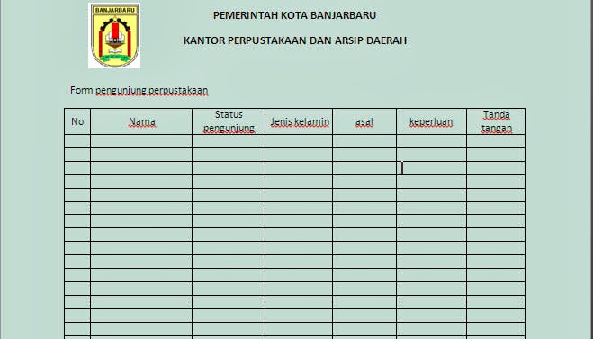 Tugas perancangan basis data (form) | SOP PERPUSTAKAAN