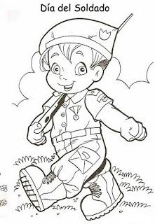 a desenhar soldado  colorir