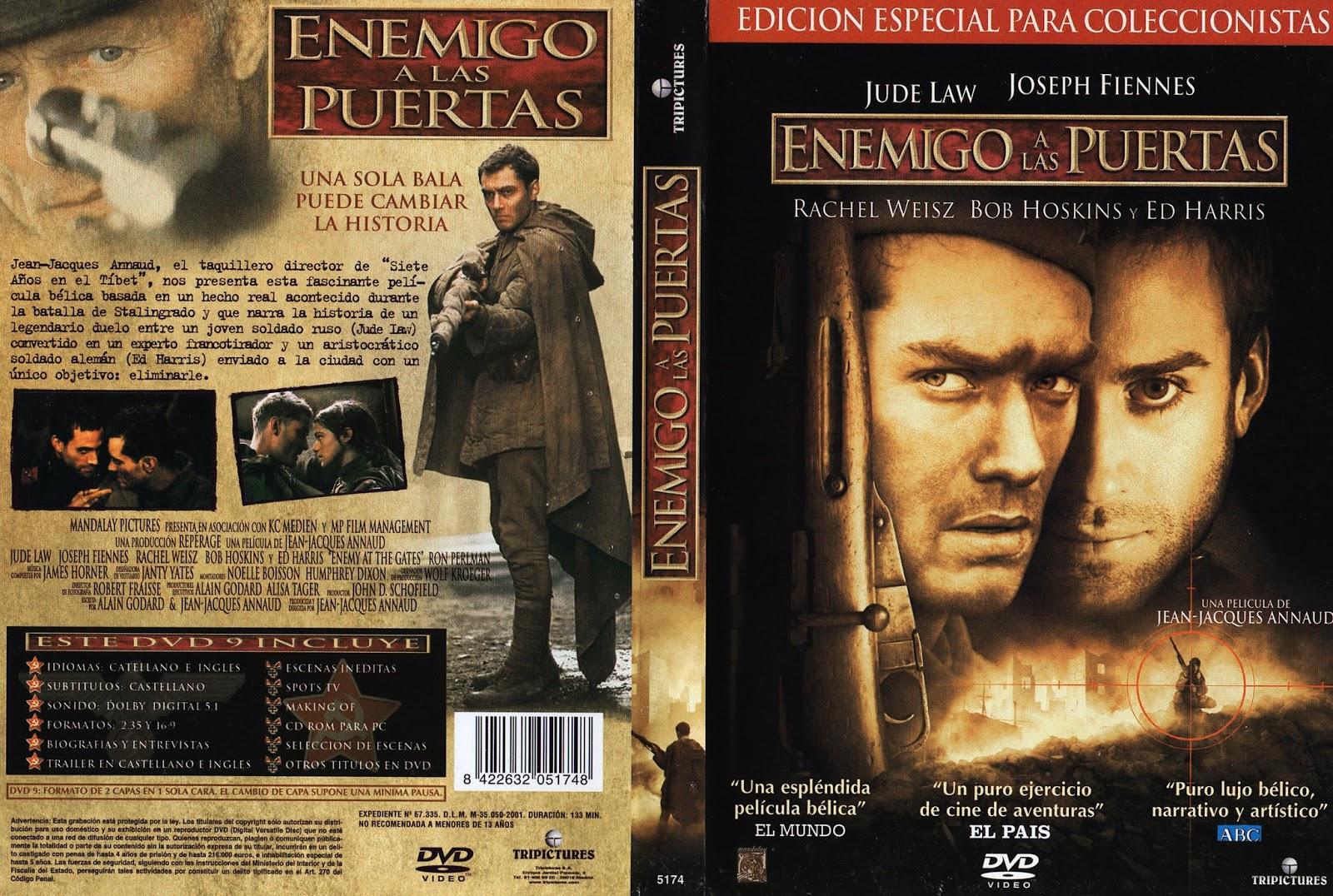 Caratulas y etiquetas enemigo a las puertas enemy at the for Enemigo a las puertas