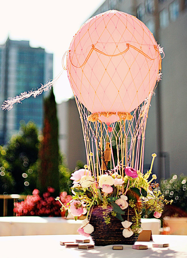 Balloon designs pictures vase centerpieces