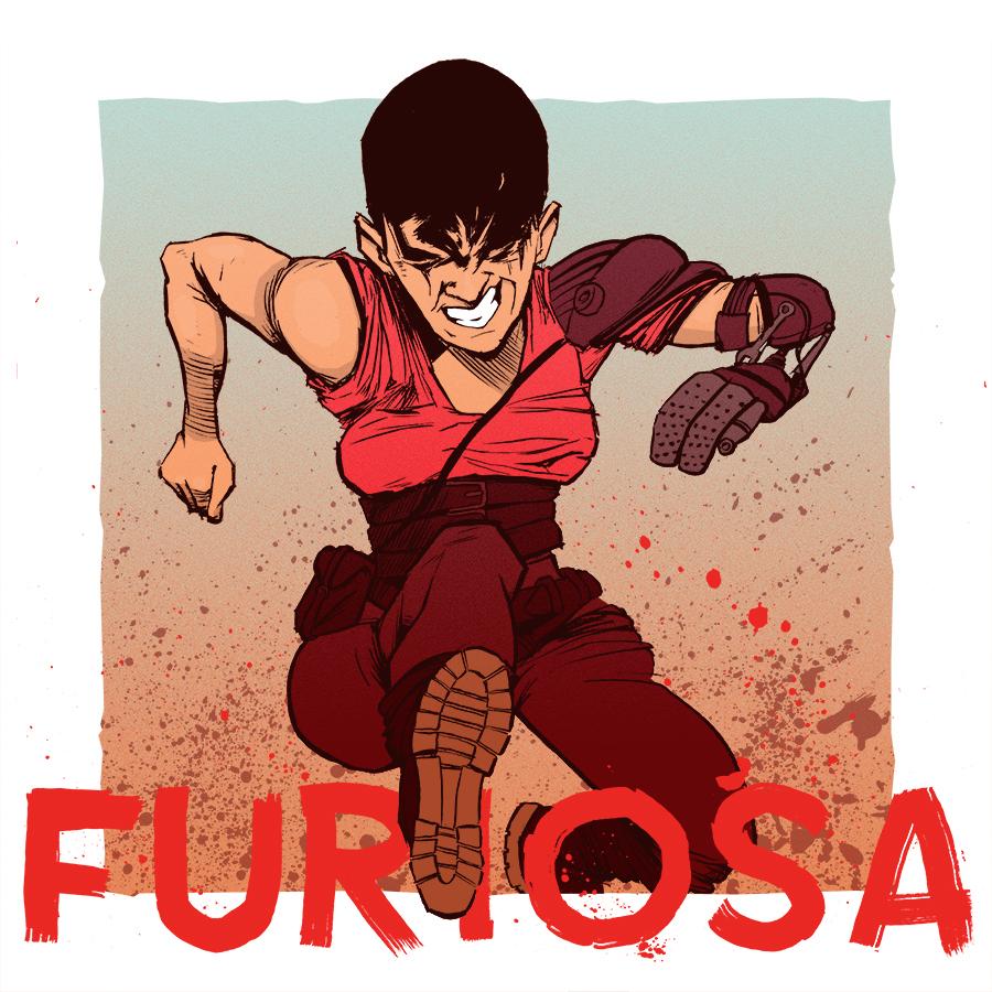 Mad Max Fury Road artwork - Imperator Furiosa