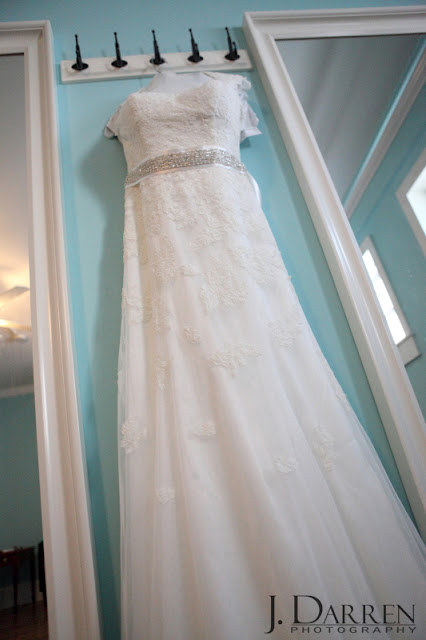 photo of the wedding dress at Twelve West Main