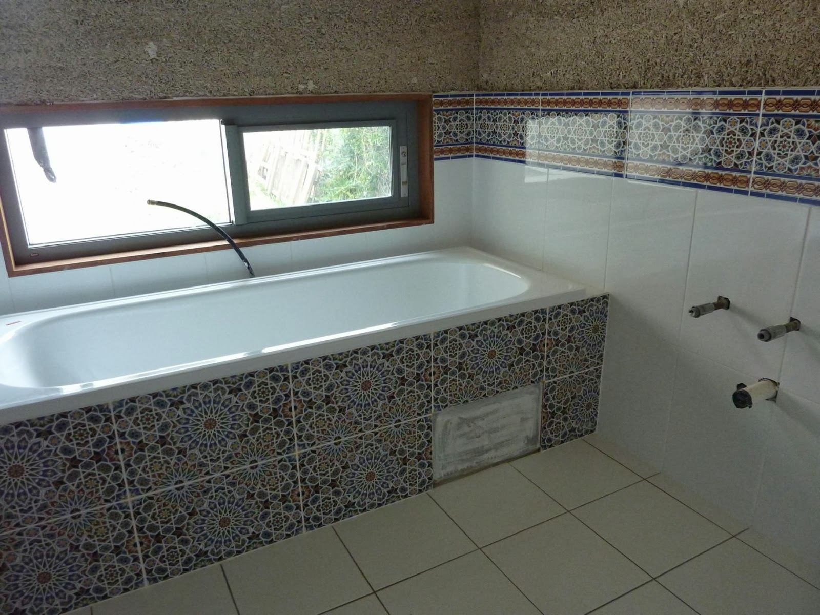 Culburra Hemp House: Bathroom Tiled