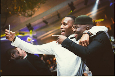 Elated Music Star, Fuse ODG Hooks Up With Christina Milan And Didier Drogba In London…See Photos