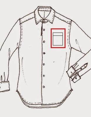 Pocket of Long Sleeve Woven Shirt