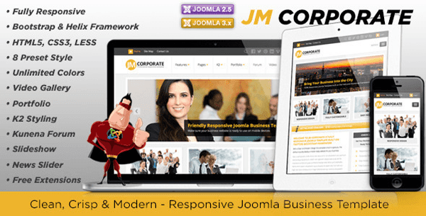 JM Corporate Joomla Business Template