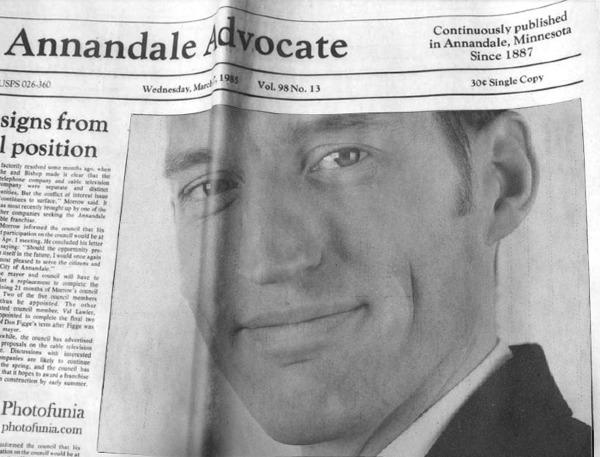 Ich in der Zeitung