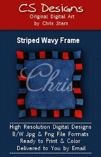 Wavy Frame digital stamp