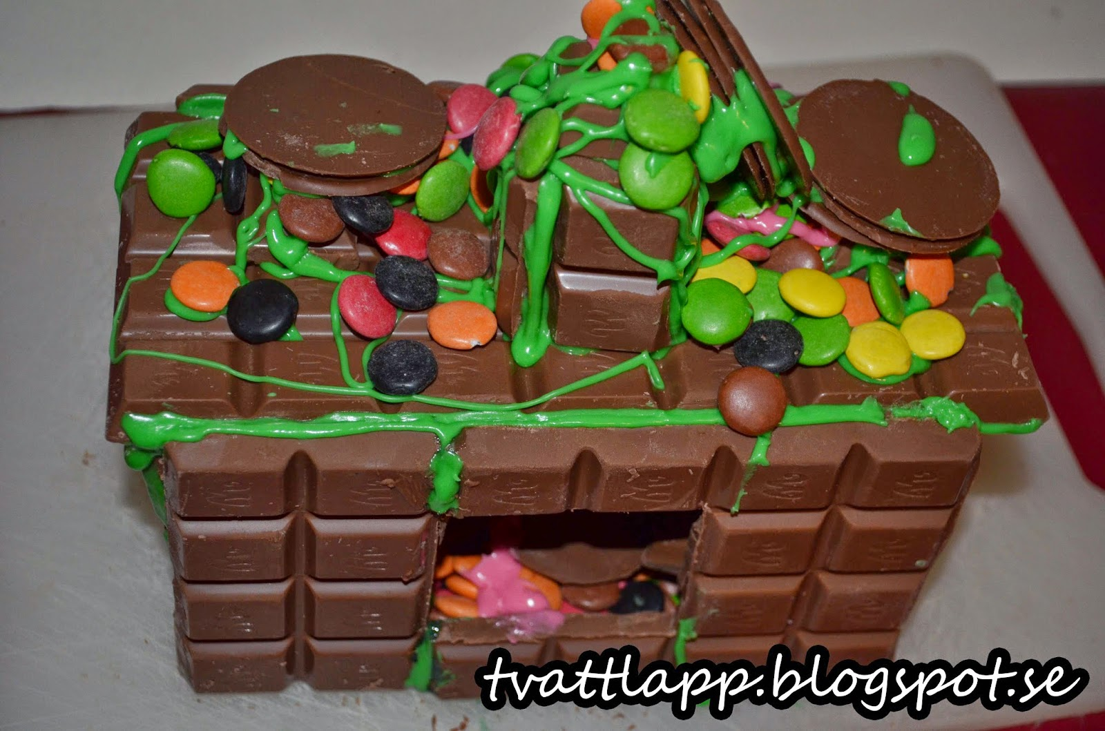 pepparkakshus av choklad