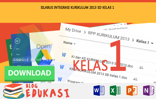 Silabus Integrasi KURIKULUM 2013 SD Kelas 1 Tahun 2015