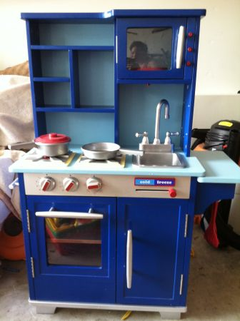 Blue Wooden Play Kitchen modren blue wooden play kitchen kidkraft sweet treats review for