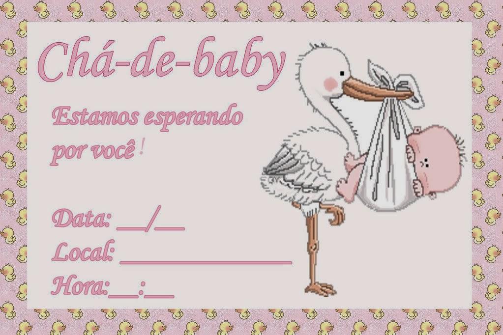 Como fazer convite para chá de bebê 5