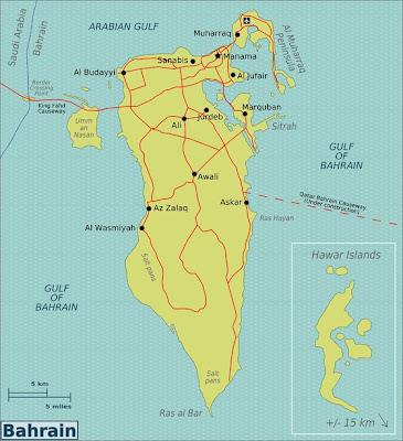 Mapa de Bahrein Mapa Región