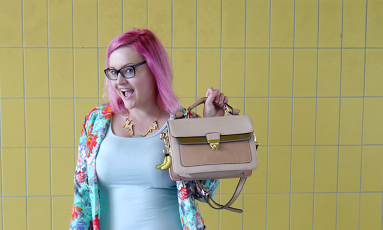 scotstreetstyle, Onward, tropical, Scottish bloggers, pink hair, DIY, Karen Mabon, New Look, primark, fruit, Scottish style, XXL live hair