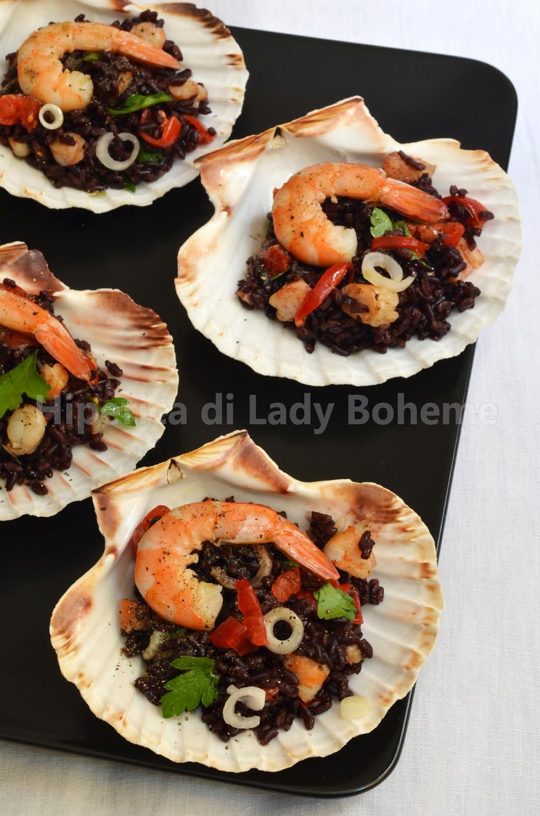 hiperica_lady_boheme_blog_cucina_ricette_gustose_facili_veloci_riso_venere_gamberetti_e_pomodorini_1