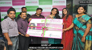 Ramya Krishnan at Green Trends Saloon