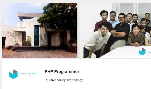 Lowongan Kerja PHP Programmer PT Java Valley Technology Semarang Jawa Tengah
