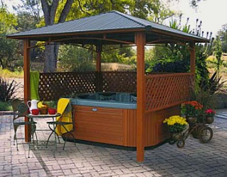 Gazebo Hot Tub Privacy Ideas Pictures To Pin On Pinterest