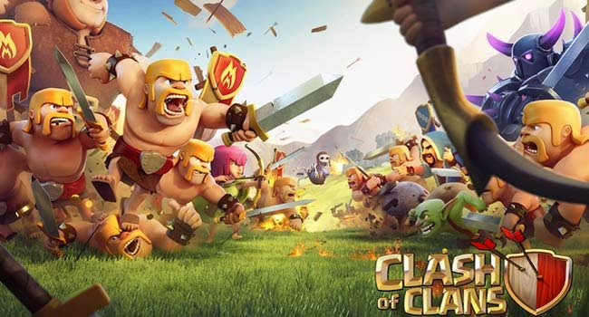 jogo multiplayer para Android Clash of Clans.