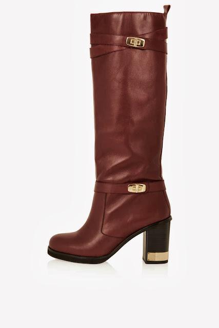 Topshop CASH Metal Trim High Leg Boots