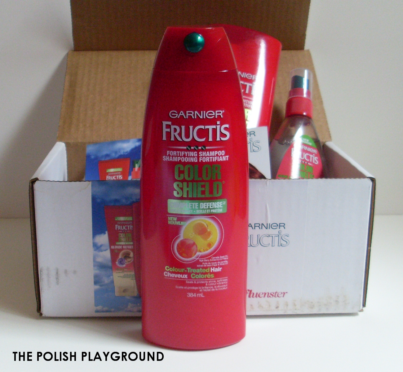 Influenster Garnier Fructis Color Shield Unboxing + First Impressions #ColorShield - Garnier Fructis Color Shield Fortifying Shampoo